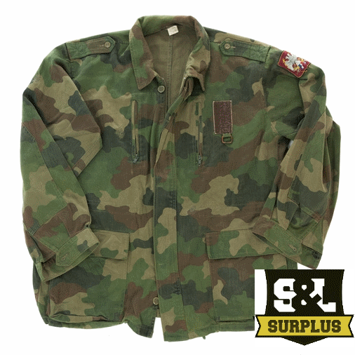 Army surplus   serbian  cotton field jacket camouflage pattern