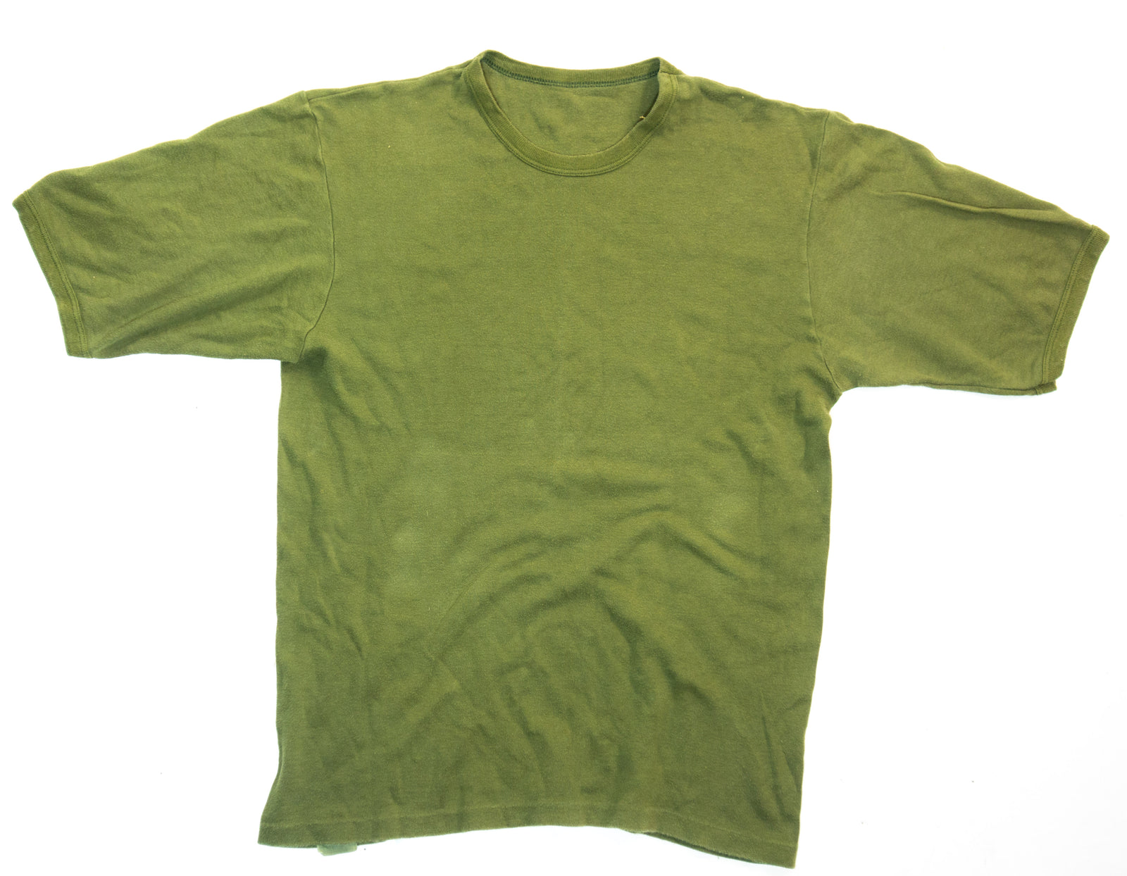 British Army Surplus Olive Green T-Shirt Tee Shirt Cotton