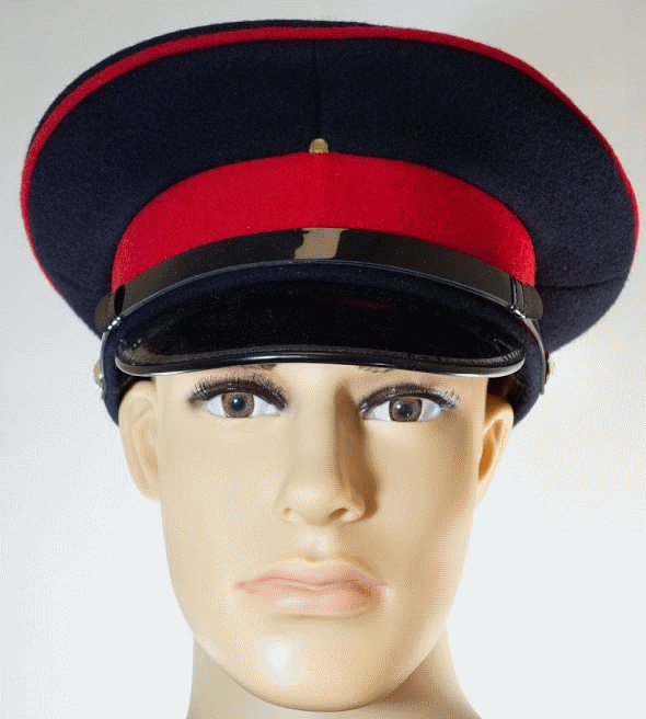 British army surplus royal black red dress uniform peaked cap hat