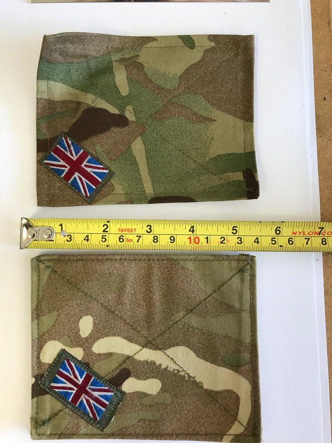 2 x British army surplus MTP velcro fixing patch tabs