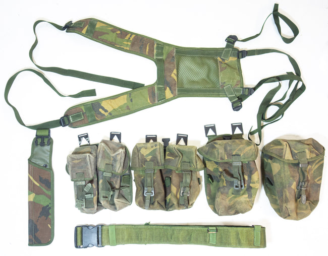 British Army Webbing Set Yoke Pouches Double Ammo Canteen PLCE