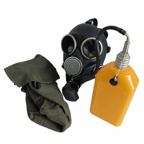 Black army  surplus special forces gas mask respirator bag BLACK NEW / UNISSUED