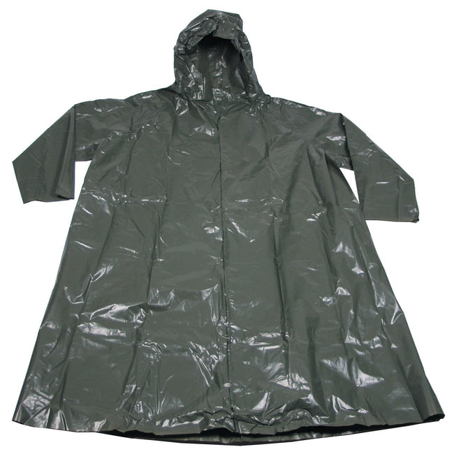 Czech Army Surplus Rain Suit Vinyl Festival Camping Hiking Poncho Green Waterproof