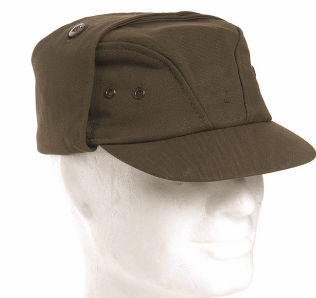 Czech army surplus M85 olive green field cap with neck cover