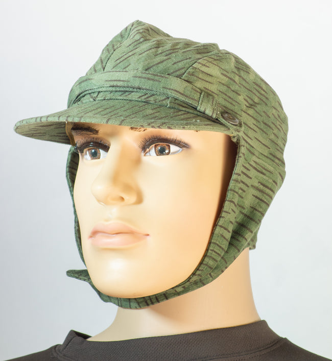 Czech army surplus M60 striped  field cap with neck cover