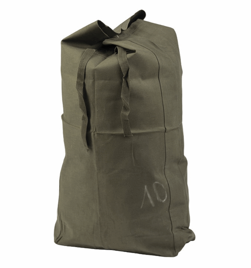 Belgian army surplus waterproof trasnport duffle bag