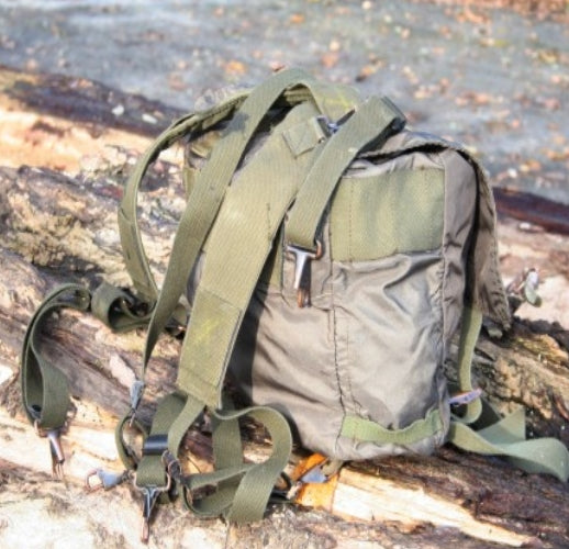 Austrian army surplus small waterproof backpack olive green