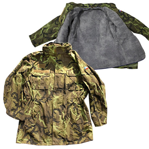 Czech army surplus M97 woodland camouflage parka