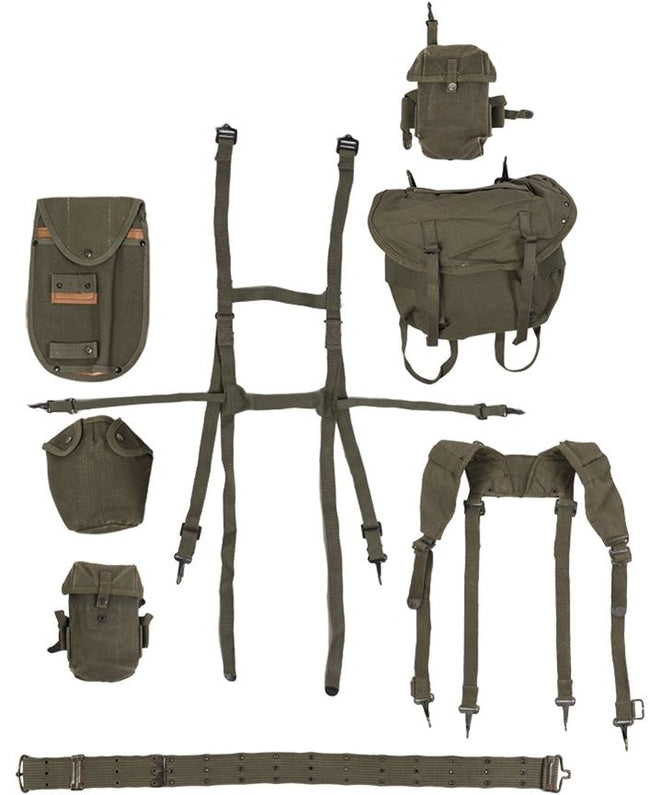 American Army Surplus U.S M56 Style 8 Piece Webbing Harness Set