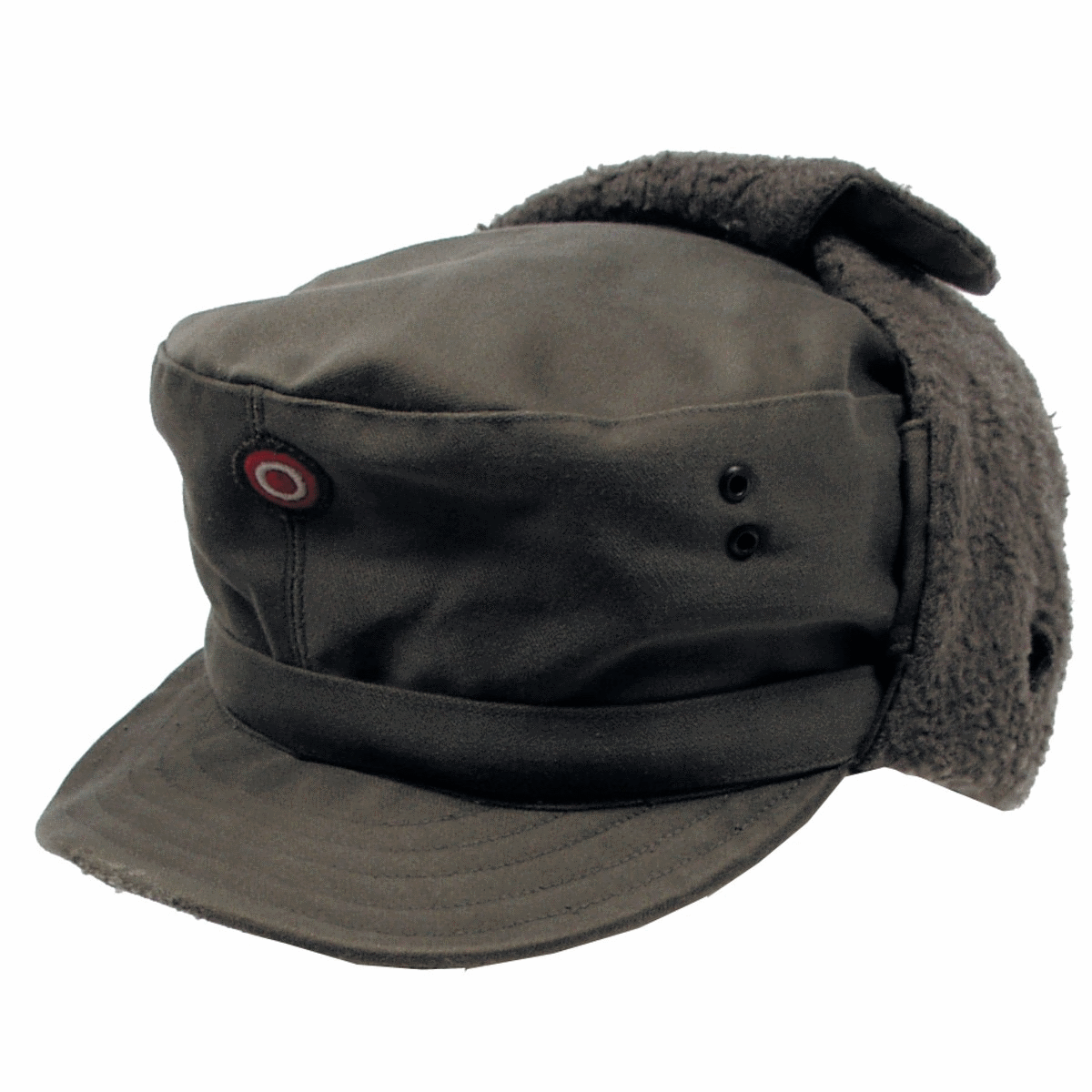 Austrian army surplus winter cold weather cap with neck cover