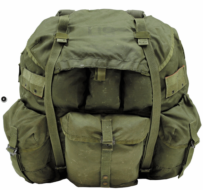 Mouse over image to zoom Have one to sell? Sell it yourself Details about  American military surplus large sized ALICE backpack OLIVE