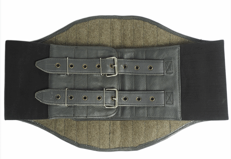 German army surplus vintage leather motorcycle kidney belt
