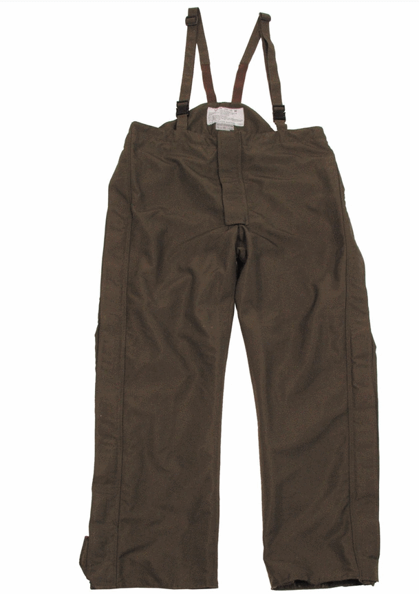 Austrian army surplus olive goretex trousers waterproof