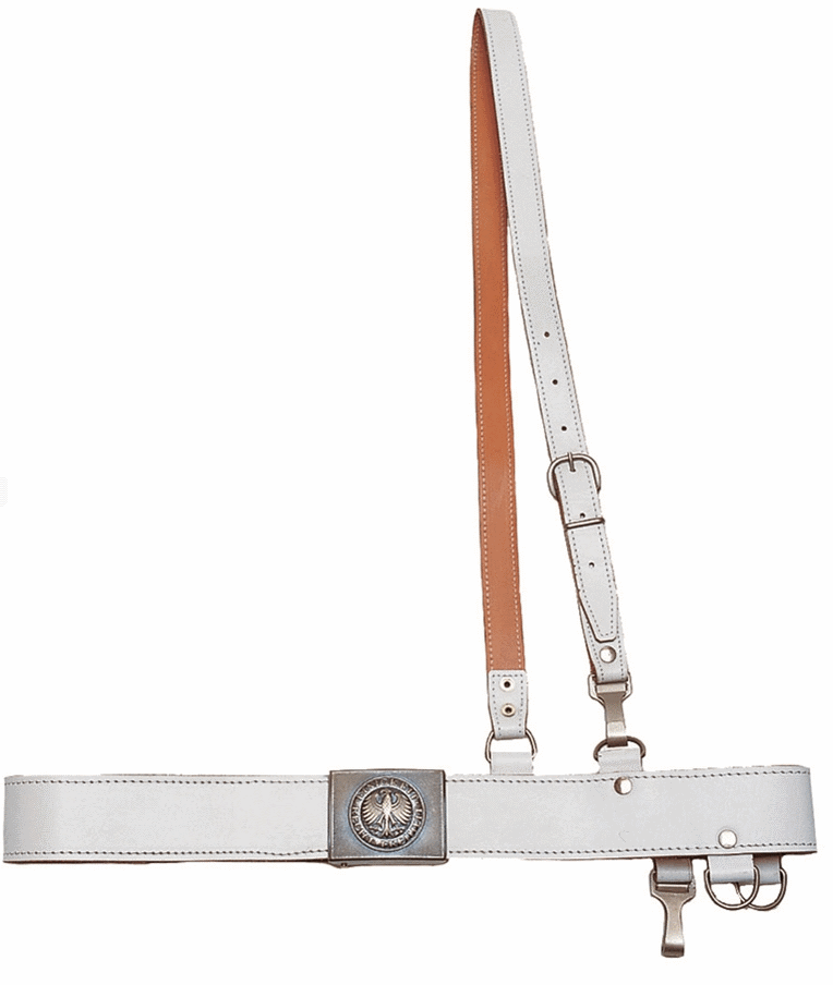 German army surplus ceremonial dress white leather belt