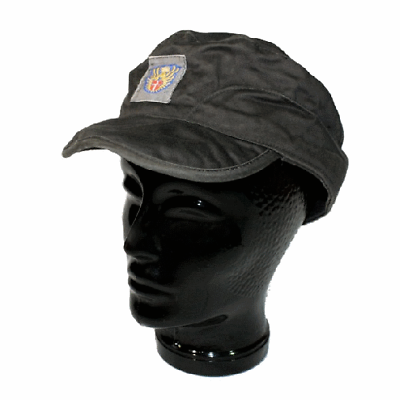 Danish army surplus grey field cap with logo