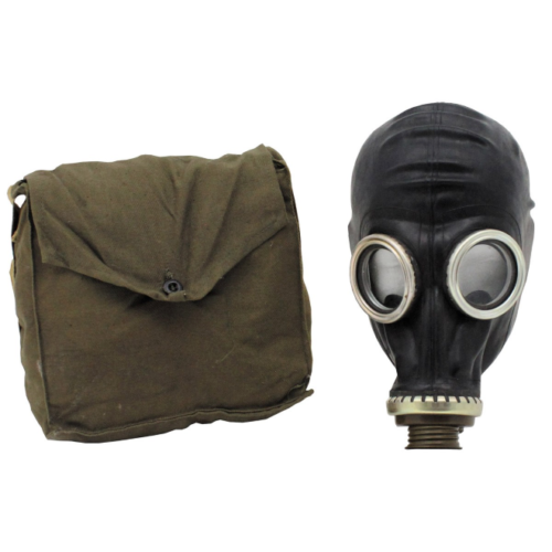 Russian gas mask  and bag, NEW/UNISSUED - (GP-5) BLACK