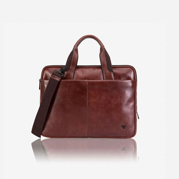 Brando brown leather briefcase fathers day blog Jacket