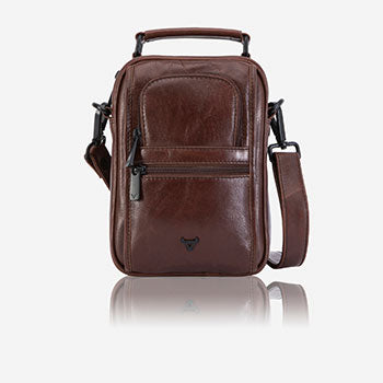 Brando Leather Brown leather gents bag with top handle fathers day blog