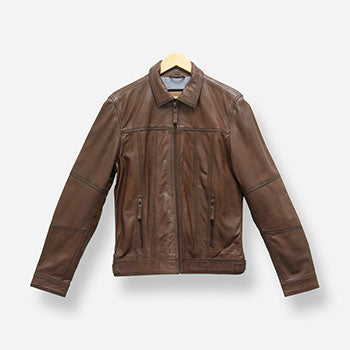 Brando Leather Brown Leather Jacket