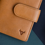 Multi Card Leather Wallet, Tan - Leather Wallet | Brando Leather South Africa