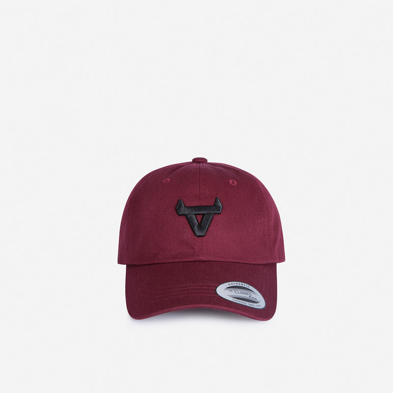 Baseballer Cap - Maroon - Leather Caps | Brando Leather South Africa
