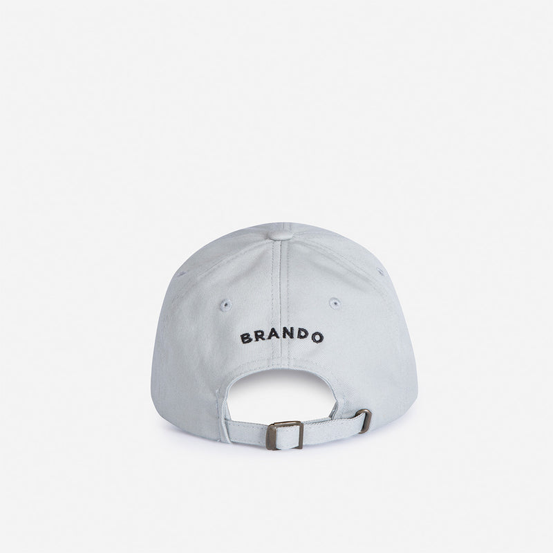 Baseballer Cap - Grey - Leather Caps | Brando Leather South Africa