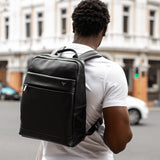 "13"" Slim Laptop Backpack - Leather Backpacks 