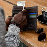 Upright Leather Pocketbook, Black - Leather Wallet | Brando Leather South Africa