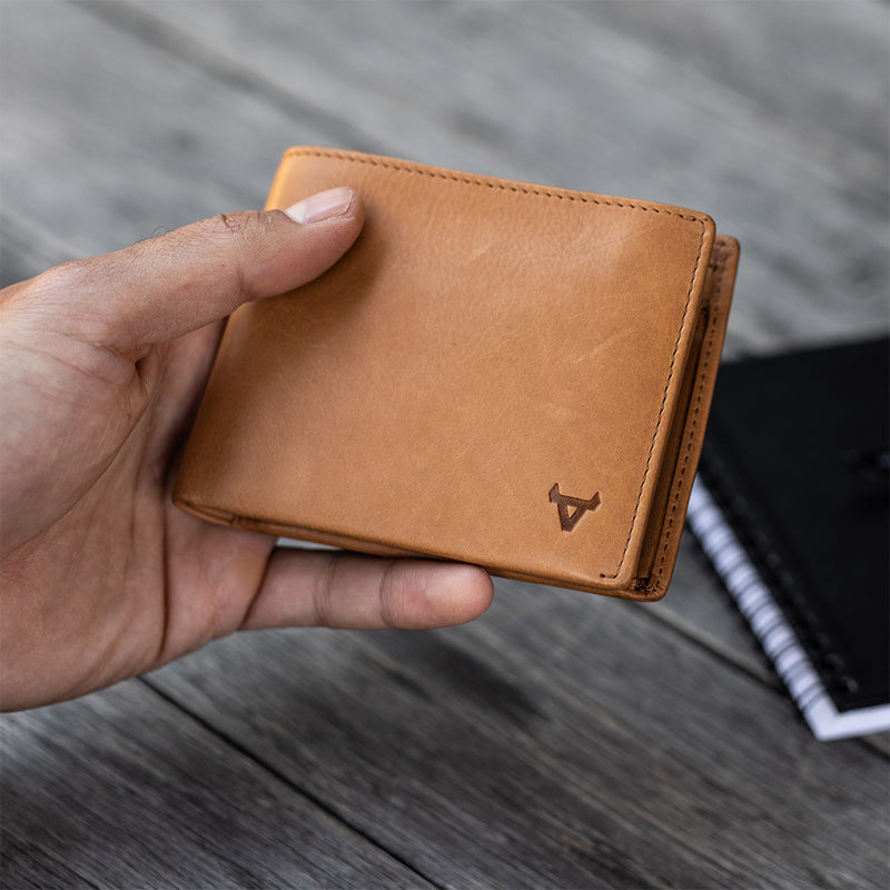 Leather Wallet with Flap, Tan - Leather Wallet | Brando Leather South Africa