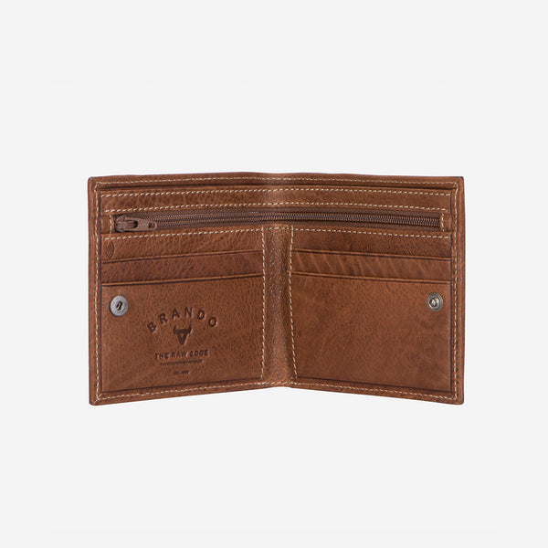 RFID Billfold Leather Wallet, Brown