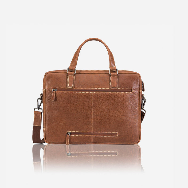 "13"" Slimline Briefcase - Leather Laptop Bag 