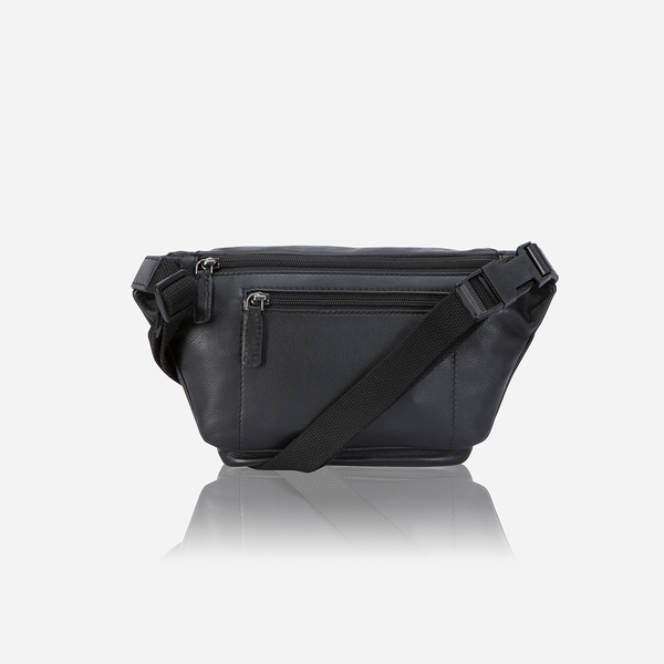 Classic Style Waist Bag, Black - Leather Waist Bag | Brando Leather South Africa