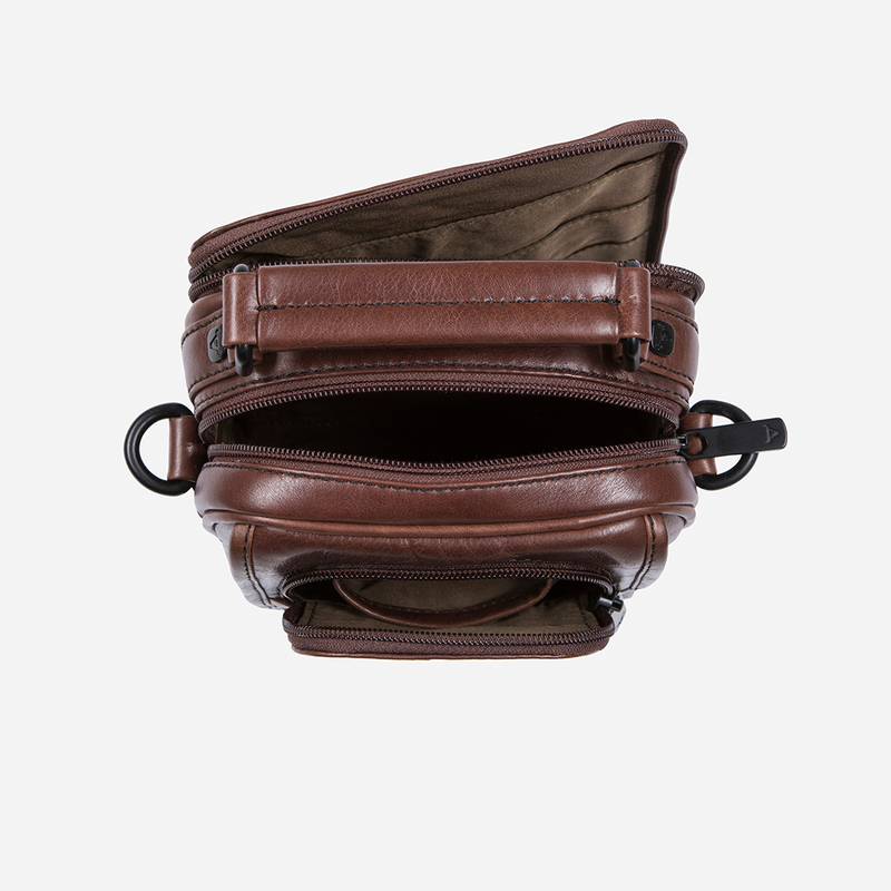 Gent's Bag With Top Handle - Leather Crossbody Bag | Brando Leather South Africa