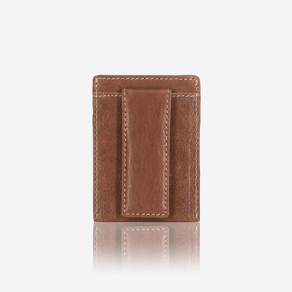 Leather RFID Cardholder Money Clip, Brown - Leather Wallet | Brando Leather South Africa