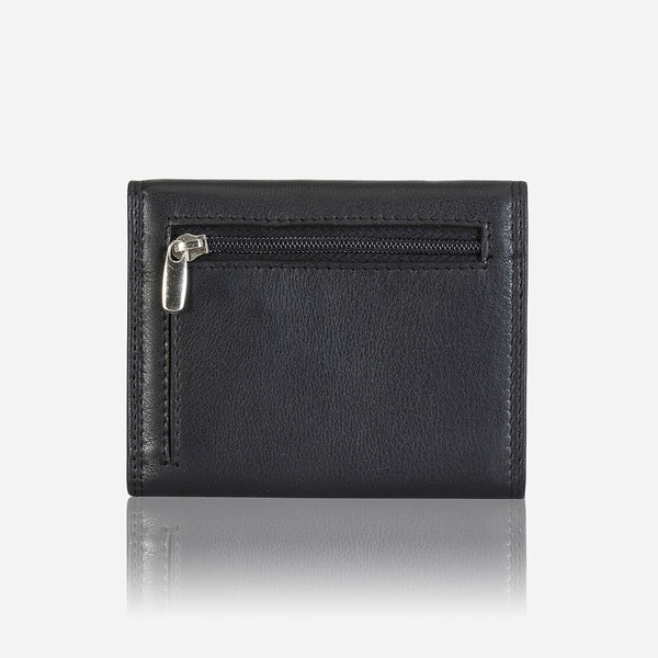 Classic Men's Leather Wallet, Black/Brown
