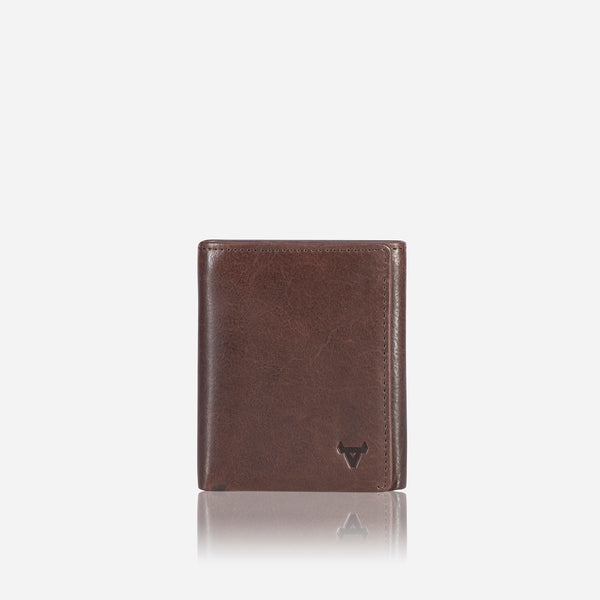 Cooper X Upright Trifold Leather Wallet, Brown - Leather Wallet | Brando Leather South Africa