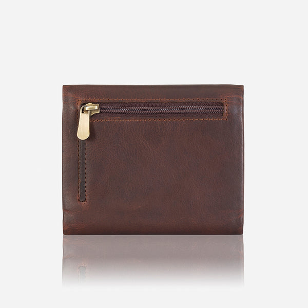 Trifold Compact Leather Wallet, Brown - Leather Wallet | Brando Leather South Africa