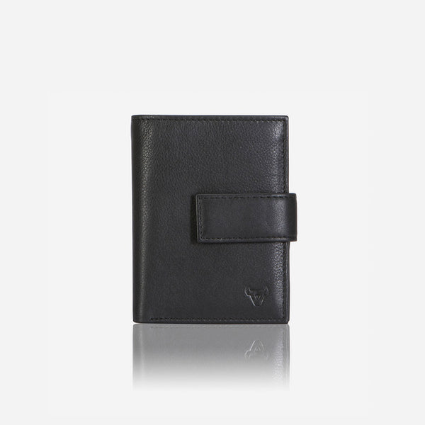 Slim Leather Card Holder, Black