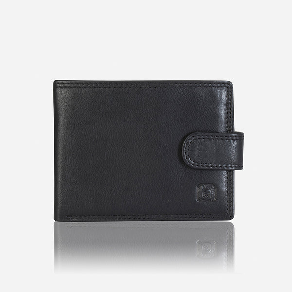 Conventional Men's Slim Leather Wallet, Black - Wallet | Brando Leather South Africa