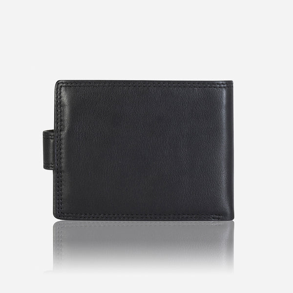 Conventional Men's Slim Leather Wallet, Black
