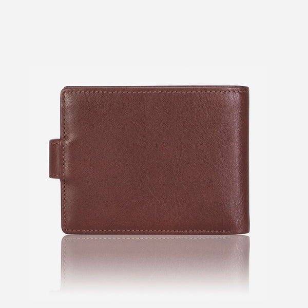 Classic Press Stud Leather Wallet, Brown