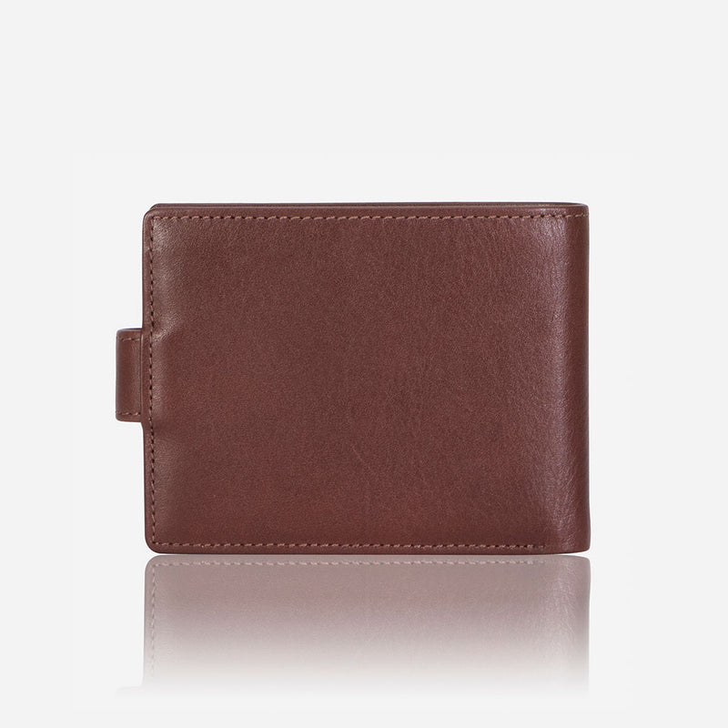 Classic Press Stud Leather Wallet, Brown - Leather Wallet | Brando Leather South Africa