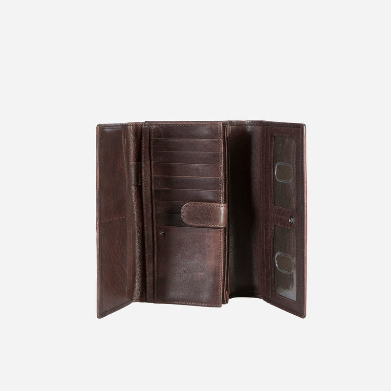 Cooper X Multi Card Purse/Flap/In.Tab-Brn - Leather Purse | Brando Leather South Africa