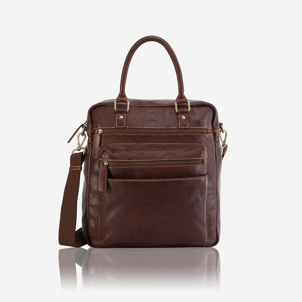Asher Upright Travel Bag - Leather Business Bag | Brando Leather South Africa
