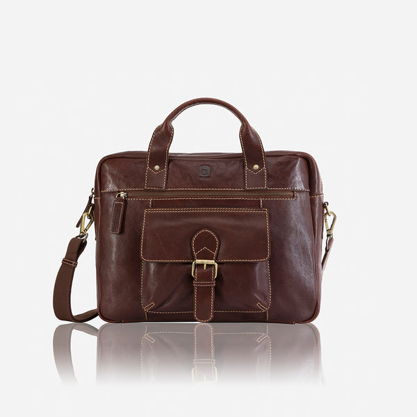 Asher Double Handle Briefcase - Leather Laptop Bag | Brando Leather South Africa
