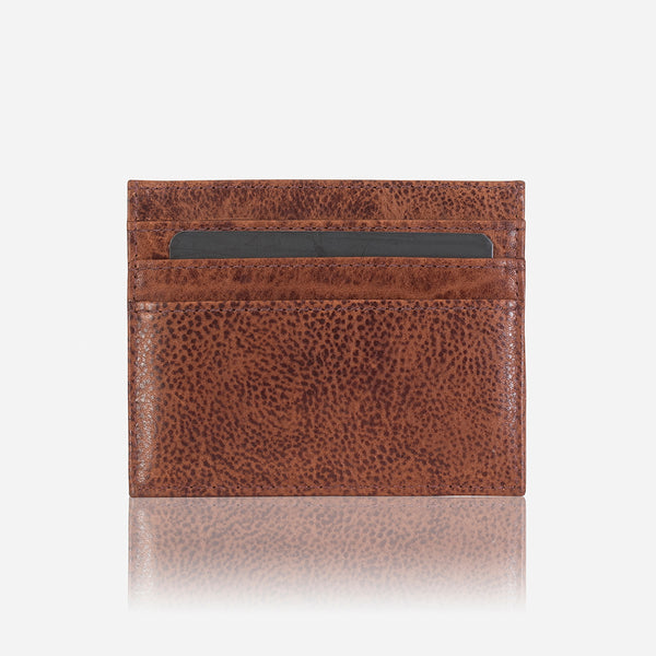 Minimalist Leather Card + Coin Wallet, Brown/Black