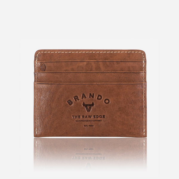 RFID Leather Card Holder, Tan - Wallet | Brando Leather South Africa