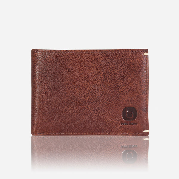 Flip Over Leather Wallet, Brown/Black - Leather Wallet | Brando Leather South Africa