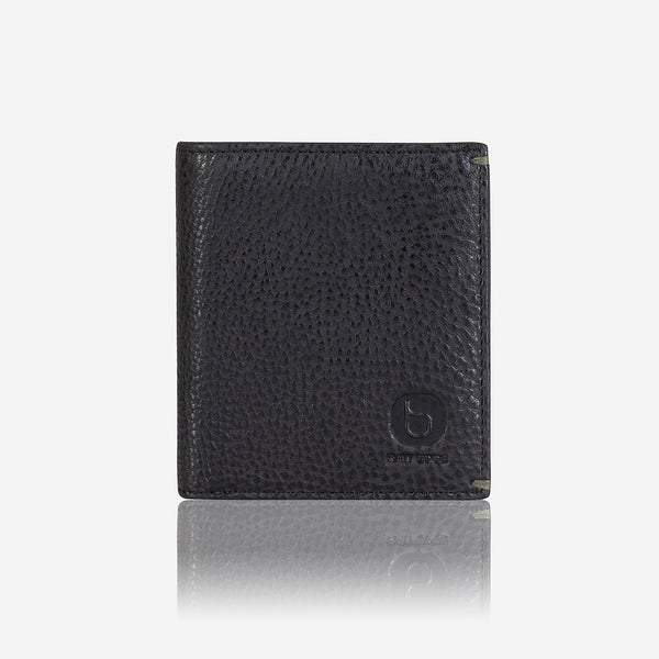 Slim Flip Leather Wallet, Black - Leather Wallet | Brando Leather South Africa