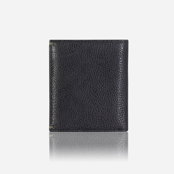 Slim Flip Leather Wallet, Black